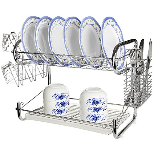 Best 2 Tier Dish Rack with Tray -Ratings \u0026 Reviews  sc 1 th 225 & Best 2 Tier Dish Rack with Drip Tray