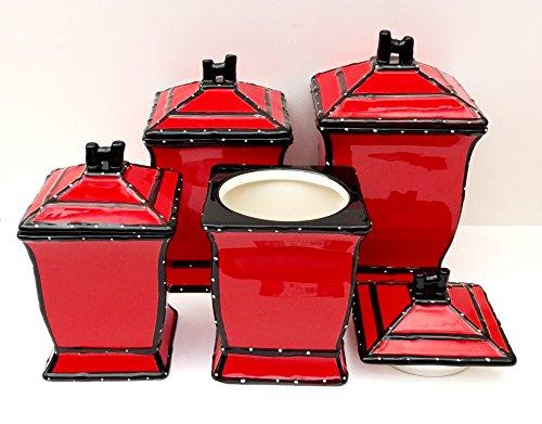 Best red kitchen accessories for Italian kitchen set