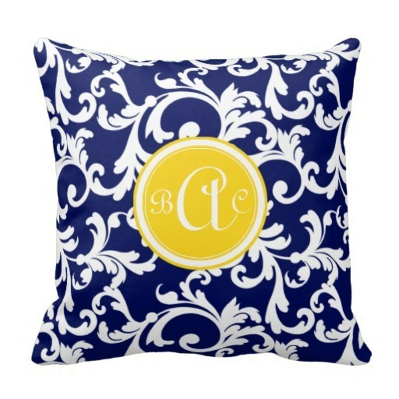 Cute Navy Pillow : Navy Blue Throw Pillows