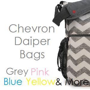 Top Chevron Print Diaper Bags - Best Zig Zag