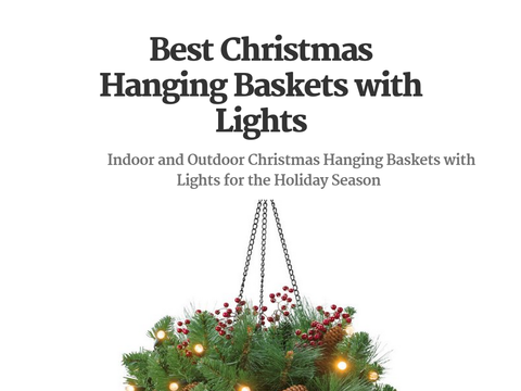 Christmas Hanging Baskets With Lights.New Christmas Hanging Baskets With Lights Best