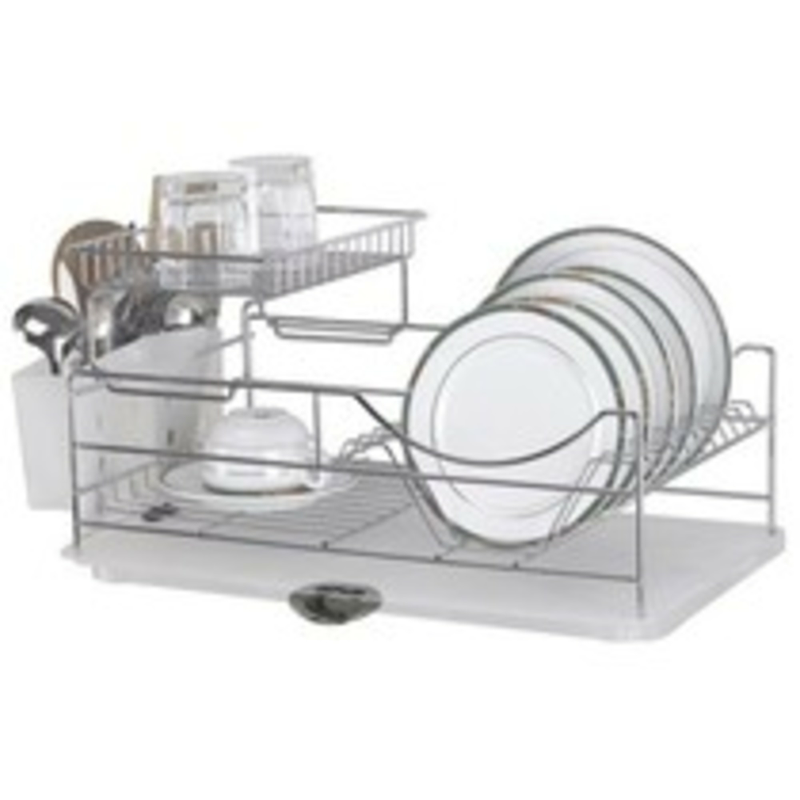 best 2 tier dish rack with tray ratings reviews. Black Bedroom Furniture Sets. Home Design Ideas