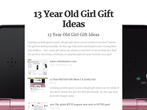 13 Year Old Girls Christmas And Birthday Present Resolution 400x330 Px S 58620af9fd6bdfd61f2a7e08e8950b1fpng