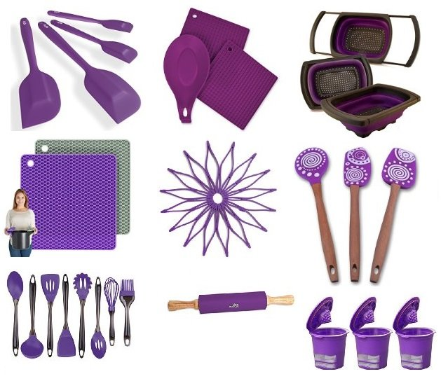 Beau Add Some Color To You Kitchen With These Light Purple Or Dark Purple  Silicone Kitchen Utensils! Perhaps You Are Looking For Plum, Lavender,  Hibiscus Purple, ...