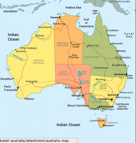 Oceans of the world the continent of australia is a single country continent it is the sixth largest country by total area and is also the smallest of all the seven gumiabroncs Gallery