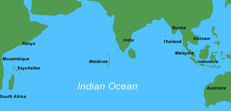 Oceans of the world indian ocean is the third largest ocean in the world covering an area of around 73556000 square kilometres indian ocean has been home to a rich variety gumiabroncs Image collections